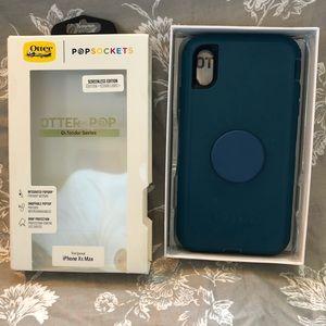 NIB Otterbox Popsocket turquoise iPhone XS Max